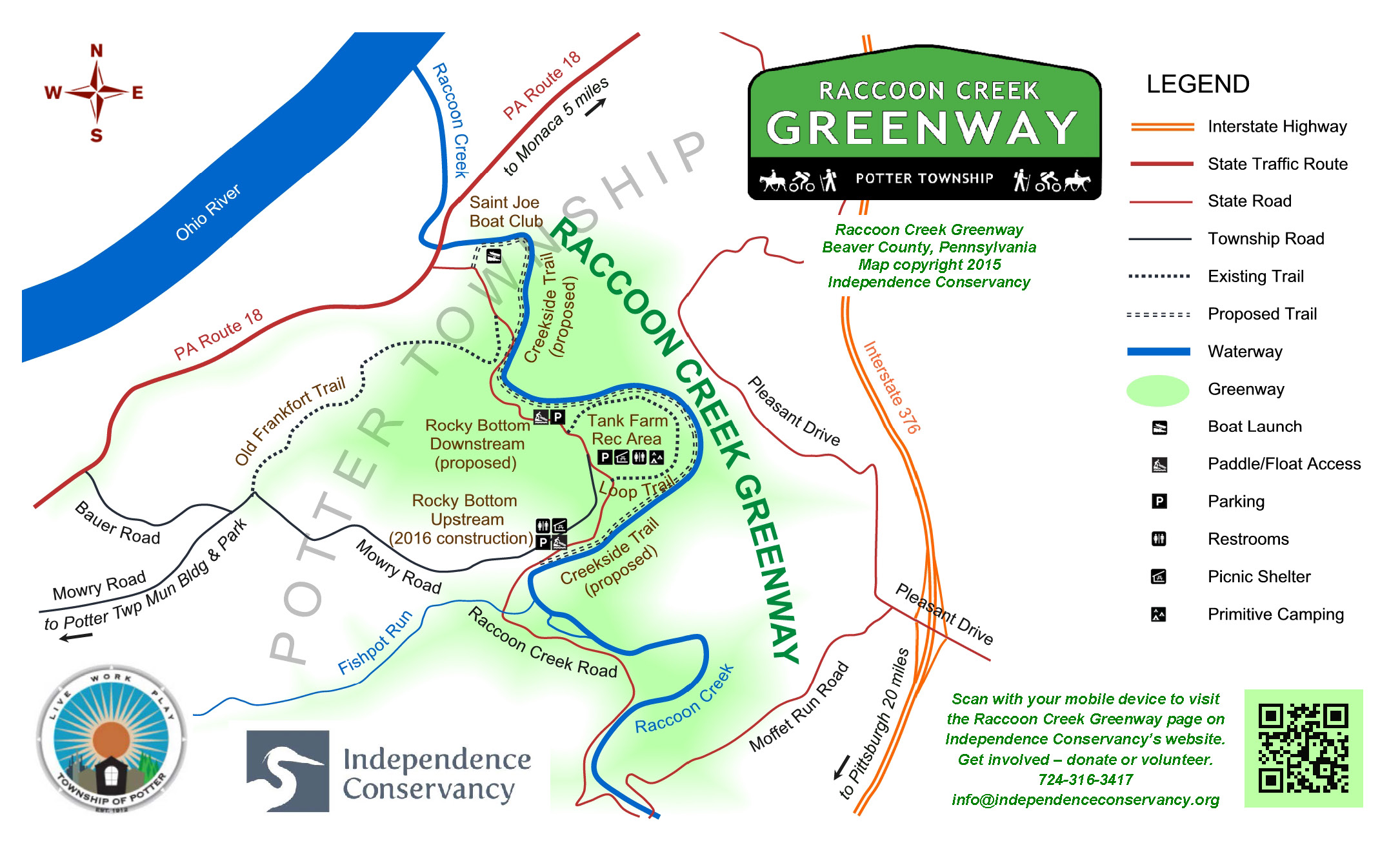 Greenway in Potter map w legend  logos legal